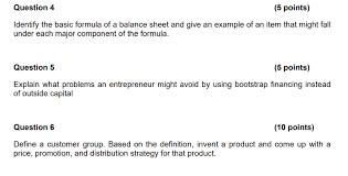 basic balance sheet solved question 4 5 points identify the basic formula o