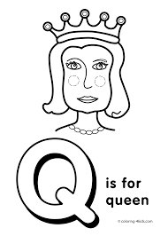 Small Picture Letter Q coloring pages alphabet coloring pages Q letter words
