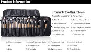 package include professional 24 pcs makeup brush set