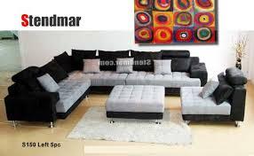 modern sectional sofas microfiber. Unique Modern Amazoncom 5pc Multifunction 2tone Microfiber Big Sectional Sofa Set  S150LBG Kitchen U0026 Dining For Modern Sofas E