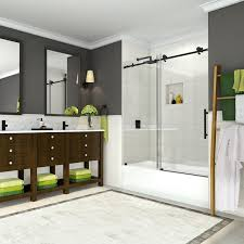 cine 56 60 x60 frameless sliding tub door oil rubbed bronze
