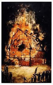 the passion of william kurelek studio ostudio o lwk burningbarn jpg burning barn