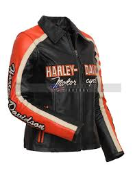 women harley davidson motorcycle leather jacket