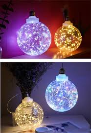 Hanging Ball Lights 15cm Led Lamp Battery Powered Hanging Decoration Light Clear Plastic Ball Copper Wire Safety Gift For Kids Night Night Baby Room Shop Decorations For