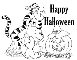 Halloween Coloring Pages Winnie The Poo Free Printable Coloring