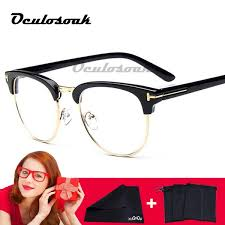 2019 2019 <b>New Half Metal Women</b> Glasses Frame Men Eyeglasses ...