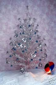 1960 S Silver Tinsel Christmas Tree With Color Wheel Ours Actually