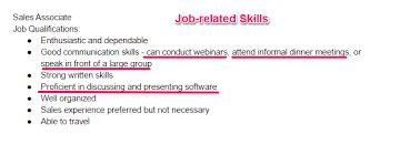 Resume Job Skills Simple Resume Template
