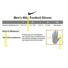 Nike Football Glove Size Chart