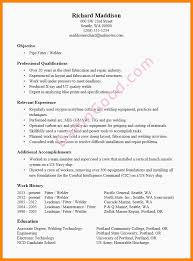 Pipefitter Resume Examples April Onthemarch Welder Resume Examples