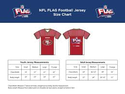 Nfl Size Chart 2020 Spring League Registration Nfl Flag La