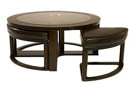 Marion Coffee Table With 4 Stools Media Image 1
