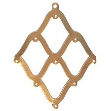 brass blanks pendant base jewelry supplies 09287 earring base gypsy earrings vintage jewelry supplies brooch blanks