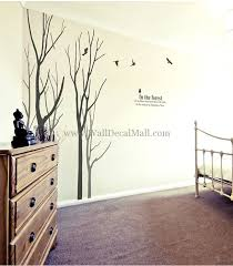 in the forest 5 birch tree with birds wall decals