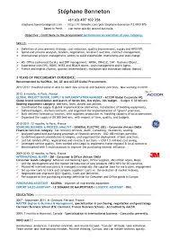procurement cv format