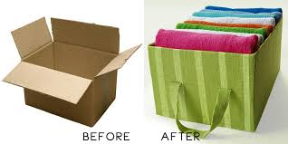 How To Decorate Cardboard Storage Boxes Amazing How To Diy