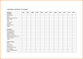 Personal Household Budget Monthly Expenses Worksheet Excel Monthly Household Budget Worksheet