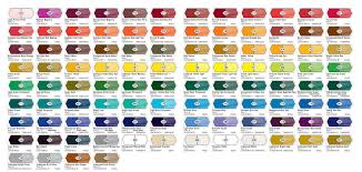 Liquitex Heavy Body Acrylic Paint Colour Chart Liquitex
