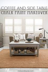gorgeous simple gray chalk paint coffee and side table makeover maisondepaxcom chalk paint coffee table