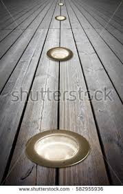recessed floor lighting. Recessed Floor Lamp On Wooden - Image With Copy Space Lighting E