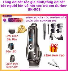 Mua 1 được 2 ) Tông đơ cắt tóc không dây chuyên nghiệp, tông đơ cắt tóc nam  Surker SK-805, tông đơ hớt tóc cho người lớn và trẻ em tặng