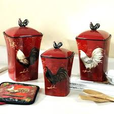 red rooster kitchen canisters set of 3 canister sets retro tea coffee sugar flour plastic containers