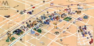las vegas tourist map  las vegas strip nevada • mappery