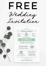 Invitation Free Templates Free Wedding Invitation Template Mountainmodernlife Com