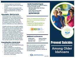 Health Tools – Tagged Brochures Suicide Prevention Idaho
