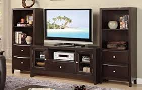 entertainment center with shelves. Amazoncom Entertainment Center Tv Stand With Open Shelves And Drawer Media Drawers In Black Finish PD Kitchen