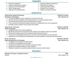 resume it amazing resumes services client server technician