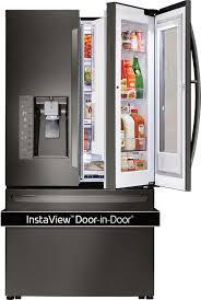 lg refrigerator instaview. lg instaview door-in-door 23.5 cu. ft. french door counter-depth refrigerator black lfxc24796d - best buy lg instaview r