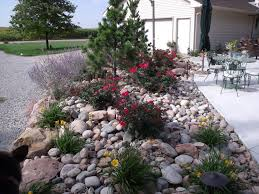 Landscape, Marvellous Gray Rectangle Unique Stone Rock Landscaping Ideas  Decorative Stones And Trees Design: