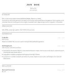 Resume Builder Free Impressive Resume Builder Online Free Noxdefense