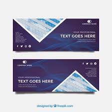 Office Banner Template Banner Template With Office Building And Abstract Shapes