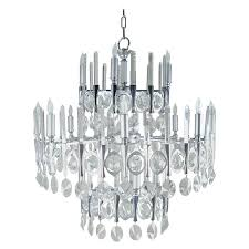 gaetano sciolari large three tier modernist crystal chandelier italy 1960s for