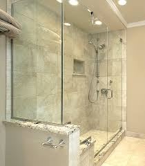shower with knee wall
