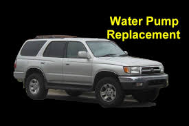 Toyota 4 Runner Water Pump Replacement, 4 Cylinder - Auto Repair ...