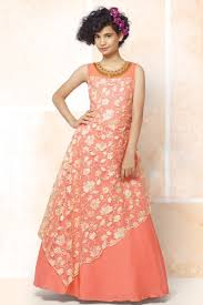 Designer Gowns For Girls Fabulous Peach Color Designer Occasion Wear Gown For Girls
