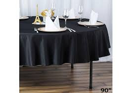 round table linen black