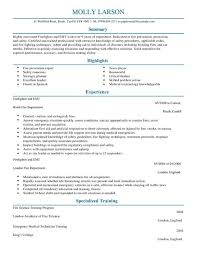 Firefighter Resume Templates Custom Firefighter CV Template CV Samples Examples