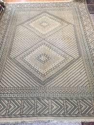 10 x 13 3 moroccan oriental rug 1950s hand made flat weave 100 wool vintage