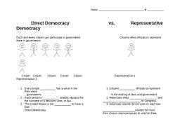 direct and representative democracy venn diagram types of democracies teaching resources teachers pay teachers