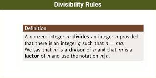 Math Divisibility Rules Chart Divisibility Rules Tests For 2 3 4 5 6 7 8 9 10 11 13 With
