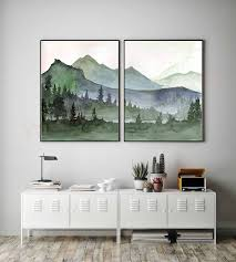 mountain wall art designs to decorate
