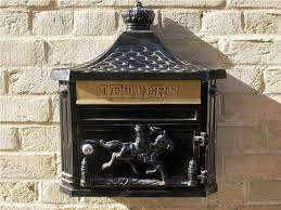 wall mount mailbox with lock black