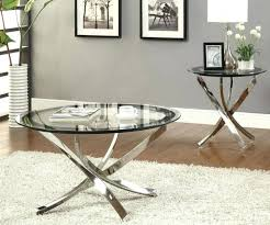 modern coffee table set medium size of furniture round metal coffee table glass on the top