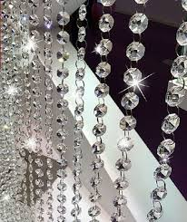 v look 10 5 feet clear k9 crystal chandelier prism lamp octagon bead chain ch