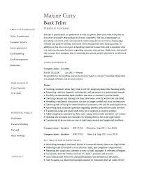 Banking Resume Samples Resume Examples For Banking Bank Teller Resume Examples Samples