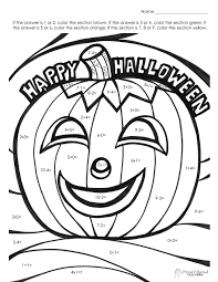 halloween math fact coloring pagejpg on pages with 1 58ef454d9a0d4 free math puzzle worksheets subjects printable halloween for 5th on kindergarten math facts worksheets